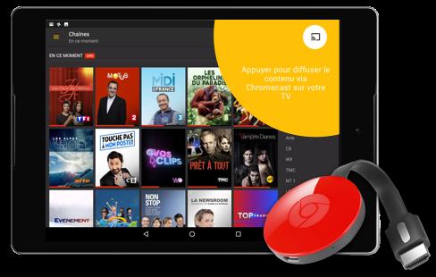 Android et Google Cast pour regarder la télé
