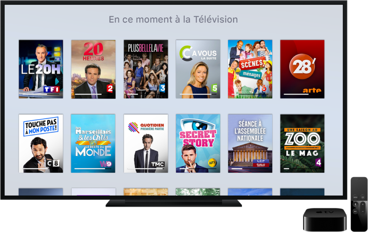 apple tv l 39 application apple tv pour regarder la t l molotov. Black Bedroom Furniture Sets. Home Design Ideas
