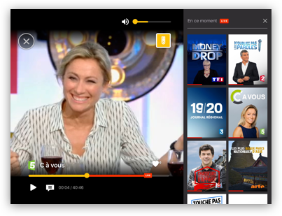 Télé en direct sur iOS