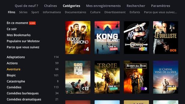 Programmes télé sur TV Panasonic