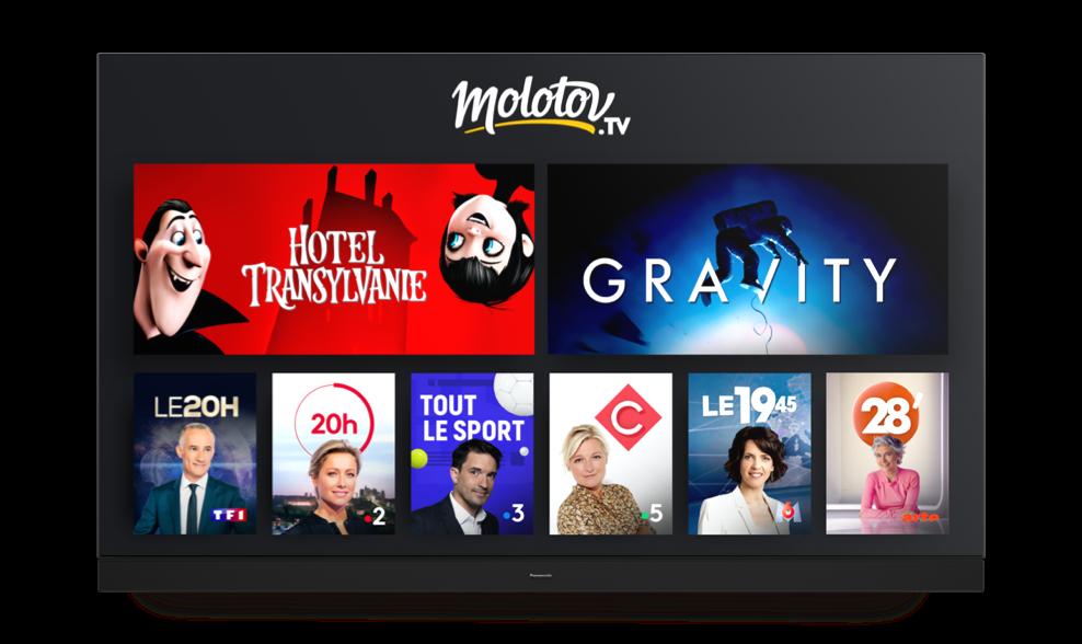 Molotov Source TV sur les Smart TV Panasonic